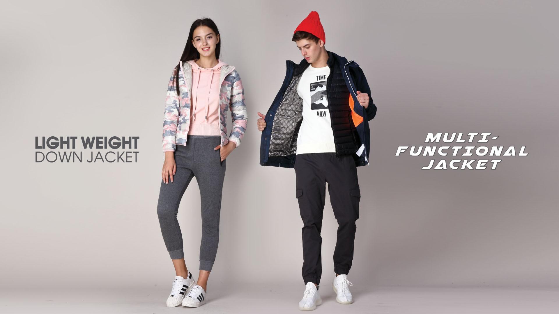 Light Weight Down & Sweatshirt Lookbook